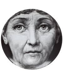 Fornasetti Art Prints Fornasetti Cushions Fornasetti Face Print Plate White Men