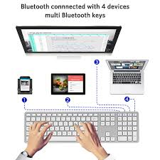 Fully Size 109 <b>Keys</b> Wireless <b>Keyboard</b> Android PC <b>Bluetooth</b> 3.0 ...
