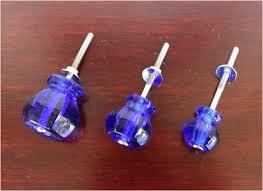 1 cobalt blue glass cabinet knobs pulls vintage dresser drawer hardware the kings bay