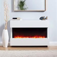 the panoramic complete electric fireplace suite is a fully assembled electric fire suite this contemporary