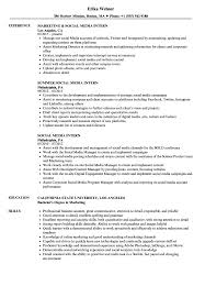 Media Resume Examples Social Media Intern Resume Samples Velvet Jobs 34