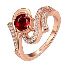Ruby Stone Gold Ring Design Latest Gold Ring Designs For Girls Ruby Stone Round Shape