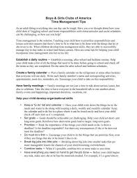 Boys Girls Clubs Of America Time Management Tips