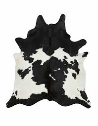 black and white natural cowhide rug