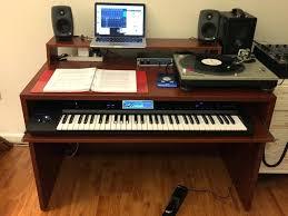 piano keyboard desk under tray