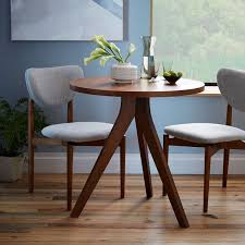 Compact round dining set ($349.17). This 5-piece dining set offers a  stylish mid-century design perfect for smaller spaces. Find it here