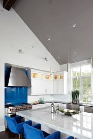 cathedral ceiling lighting ideas. Cathedral Ceiling Lighting Ideas Kitchen Contemporary With Blue Counter Seats Blue. Image By: Tracy MillerMiller Greene Design Studio
