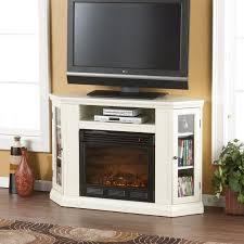 white corner tv stand w fireplace