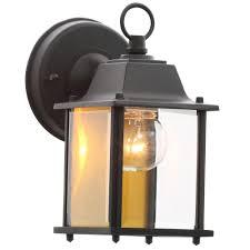 Hampton Bay Light Black Outdoor Wall LanternBPMBLK The - Black exterior light fixtures