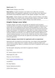 Best Ideas Of Sample Cover Letter Graphic Design Job For Resume