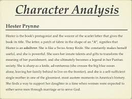 the scarlet letter 13 character analysishester prynnehester is the