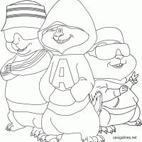 Kleurplaten Alvin And The Chipmunks Kleurplaten Kleurplaatnl
