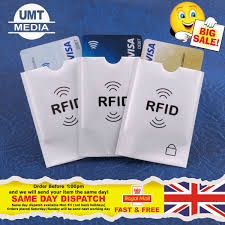 details about rfid sleeves credit card covers id identity protector protection blocking wallet