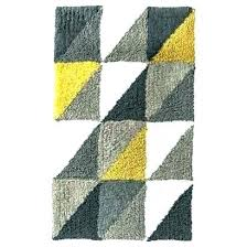 grey and yellow bathroom rug rugs stylish gray plush yel karat bath rug silver gray