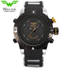 discount men watches usa 2017 whole men watches usa on usa luxury brand wolf cub sport watch men relogio masculino 3d design silicone band led digital black quartz mens watches