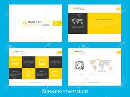 Marketing Kit Presentation Vector Template Modern Business