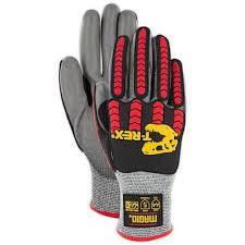 Magid T Rex Flex Series Low Profile Impact Glove With Pu Palm Coating Cut Level A4