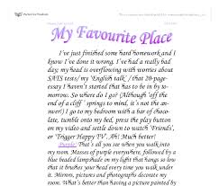 essay on my favorite place essay on my favorite place custom paper  my favourite place gcse english marked by teachers comdocument image preview