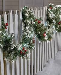 Lighted Garland Indoor 9 Ft Lighted Garland Porch Patio Fence Indoor Outdoor