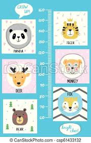 Kids Height Chart Kids Height Chart Cute And Funny Animals