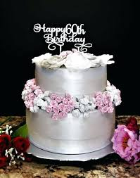 Ideas 60th Birthday Cake Or Happy Birthday Cake Topper 13 60th