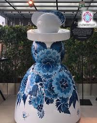 large garden statues mary flower