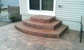 stamped concrete patio with stairs.  Patio Concrete Porch Steps Ideas Outside Stairs Patio Step  Stamped To Stamped Concrete Patio With Stairs