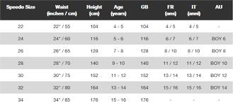 Speedo Size Chart Usa Efficient Speedo Usa Size Chart 2019