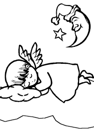 Small Picture Sleeping Angel Coloring Pages Coloring Pages