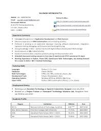 php experience resume programmer resume php 1 year experience resume