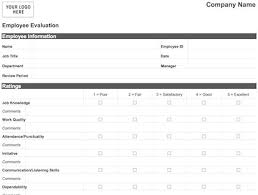 Weekly Evaluation Forms Easy Employee Evaluation Form Word Pdf Print Download