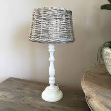coastal white table lamp and shade