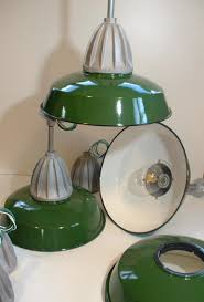 Green Porcelain Barn Light