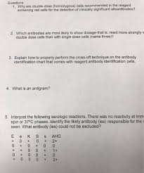 Solved Questions 1 Why Are Double Dose Homozygous Cel