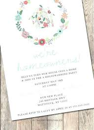 Housewarming Invitation Word Template House Blessing Warming Invites