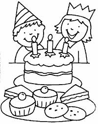 Small Picture Cake Happy Birthday Party Coloring Pages Celebration Coloring In