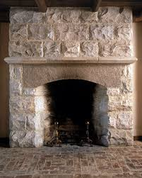 rusticated marble fireplace granite arched lintel