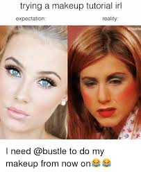 funny makeup and reality trying a makeup tutorial irl expectation reality