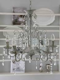 Chic Antique Chandelier Antique White 5 Arm