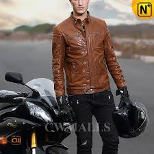 washed brown leather jacket cw806030 cwmalls com