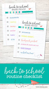 Checklist For School Back To School Routine Checklist Lil Luna
