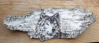 Today's birch bark paintings.