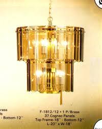 beveled glass chandelier vintage