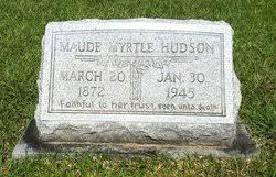 Maude Myrtle Hudson (1872-1945) - Find A Grave Memorial