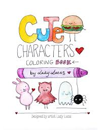 Small Picture Kawaii Coloring Book Cute Characters Printable Instant