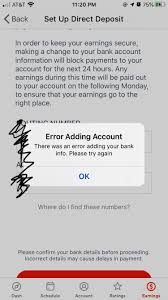 I don't have a doordash account and i never heard of. Help Still Have This Annoying Error When Trying To Add My Bank Info Doordash Is Preventing Me From Getting My Hard Earned Money Doordash