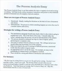 process analysis essay example sample of a process essay  process process analysis essay example