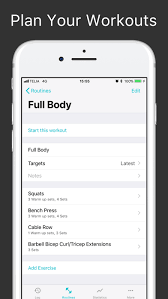 Repcount Workout Tracker For Gym Training Online App Chart