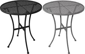 bolero steel patterned round bistro table 600mm