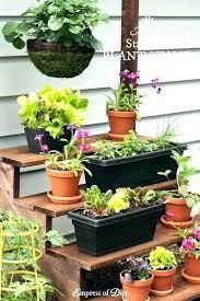herb multi level planter diy garden plant stands 3 tier wood ladder stand slatted indoor outdoor flower herbs shelf